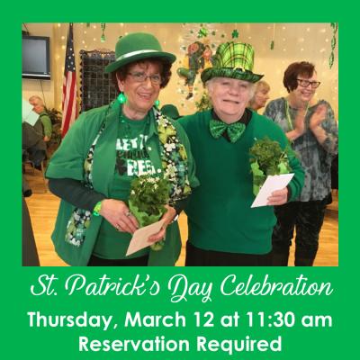 St Patricks Day celebration 3.12.20